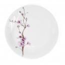 Assiette plate 26 cm Fusain en porcelaine