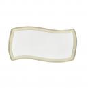 Plat rectangulaire 32 cm en porcelaine, service de vaisselle complet en porcelaine de grande qualité