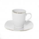 Tasse 100 ml avec soucoupe en porcelaine, service de vaisselle en porcelaine en forme de nuage