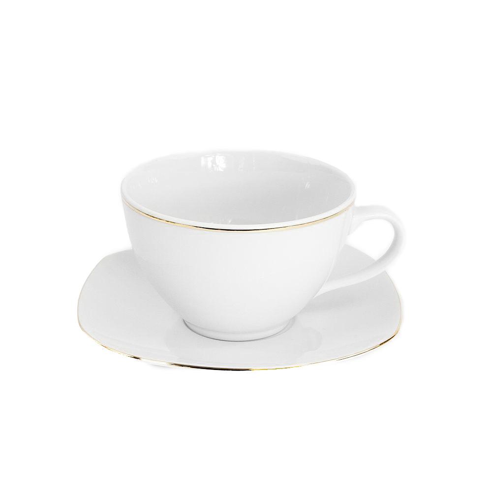 tasse assiette tasse th 400 ml avec soucoupe cytise en porcelaine. Black Bedroom Furniture Sets. Home Design Ideas