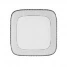 Assiette plate carrée 25 cm Astrance en porcelaine