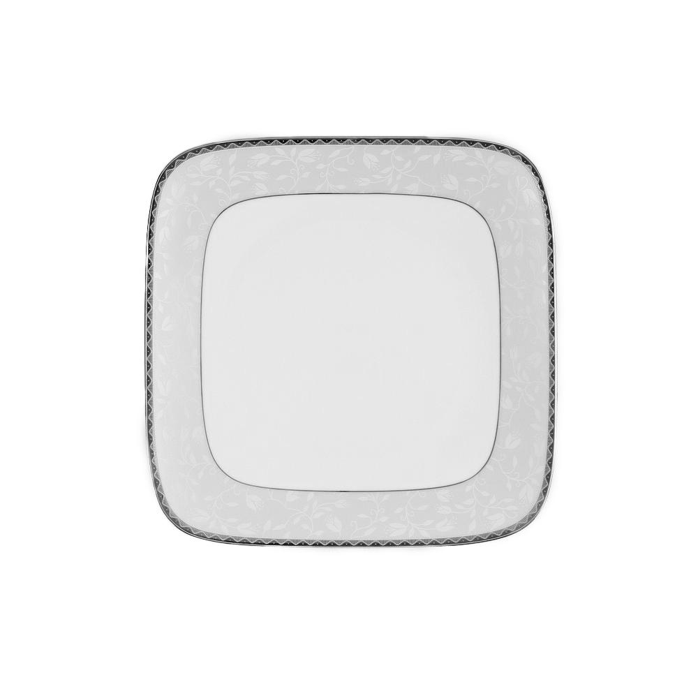tasse assiette assiette plate carr e 25 cm en porcelaine. Black Bedroom Furniture Sets. Home Design Ideas
