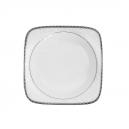 Assiette creuse carrée 20,5 cm Astrance en porcelaine