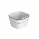 Coupelle carrée 11 cm Astrance en porcelaine