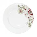 Assiette plate à aile 20 cm Fuchsia en porcelaine