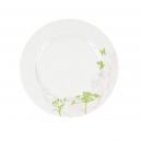 Assiette plate ronde à aile 20 cm Lavatère en porcelaine