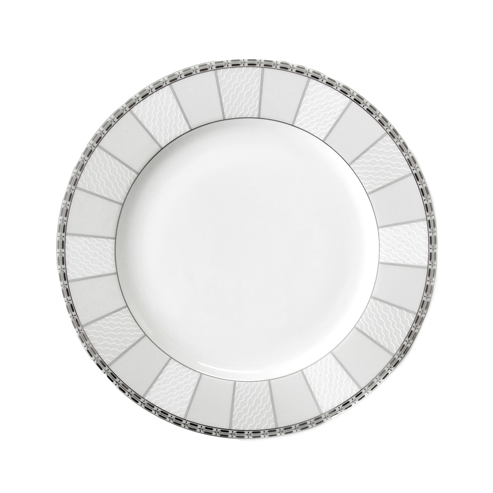 assiette plate aile 27 cm vague de neige en porcelaine. Black Bedroom Furniture Sets. Home Design Ideas