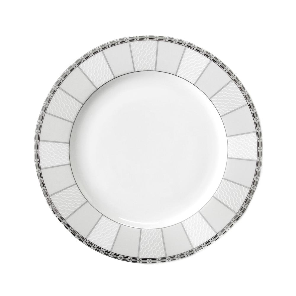 Tasse assiette assiette plate aile 27 cm vague mousseuse en porcelaine - Assiette dessin ...