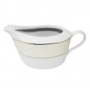 Sauciere 450 ml en porcelaine avec galon or, service complet porcelaine