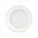 Assiette à aile creuse ronde  en porcelaine, service de vaisselle en porcelaine blanc