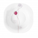 Saladier carré 26 cm Rose en porcelaine