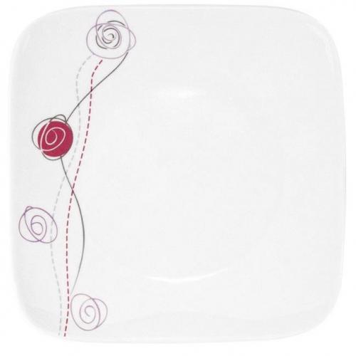 tasse assiette assiette plate carr e 25 cm rose de. Black Bedroom Furniture Sets. Home Design Ideas
