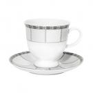 Tasse à thé 220 ml avec soucoupe 14 cm Rhododendron en porcelaine