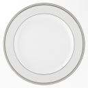 Plat rond a aile blanc avec galon de platine, service complet de vaisselle, art de la table et porcelaine