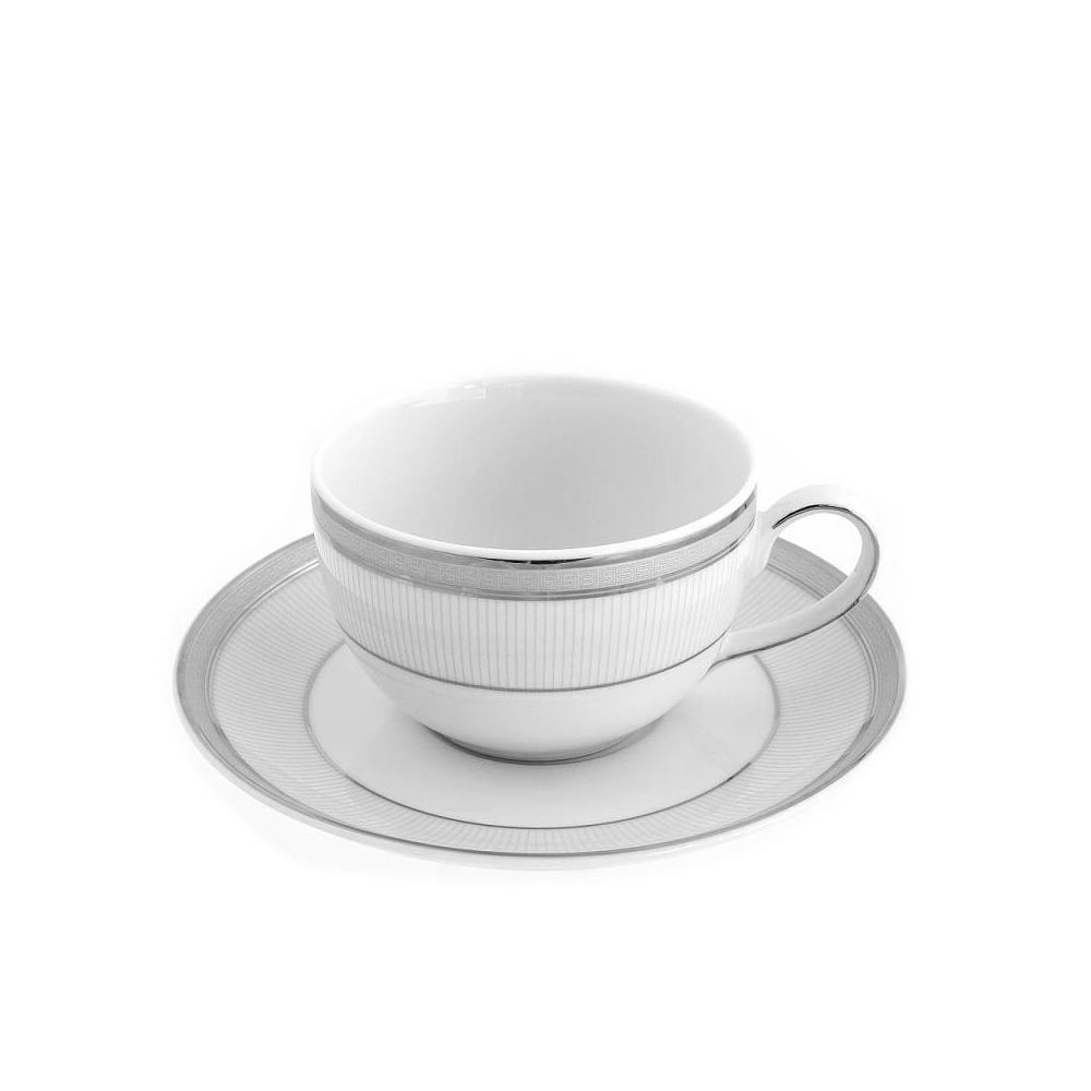 tasse th avec soucoupe en porcelaine de grande qualit. Black Bedroom Furniture Sets. Home Design Ideas