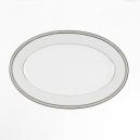 service de vaisselle, Plat ovale, en porcelaine