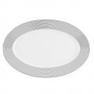 Plat ovale 36 cm Savonnier en porcelaine