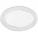 Plat ovale 36 cm Lupin en porcelaine