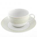 Tasse à thé 250 ml avec soucoupe Corète du Japon en porcelaine