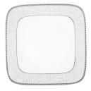 Assiette plate carrée 25 cm Oxalis en porcelaine