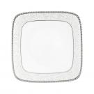 Assiette plate carrée 19 cm Oxalis en porcelaine
