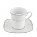 Tasse à café 100 ml avec soucoupe Oxalis en porcelaine