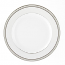 service de vaisselle complet, service avec galon de platine, art de la table, Assiette plate ronde 21 cm en porcelaine