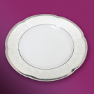 Assiette  ronde plate en porcelaine - 19 cm - Idylle dans le verger