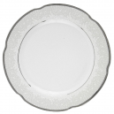 Assiette ronde plate en porcelaine - 27 cm - Idylle dans le verger