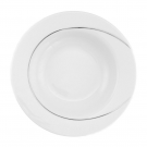 Assiette creuse à aile ronde 23 cm en porcelaine, pierre de lune, art de la table