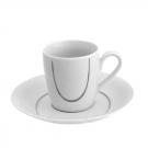 Tasse à café 100 ml avec soucoupe Sedum en porcelaine