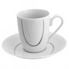 Tasse à café/thé 230 ml avec soucoupe Sedum en porcelaine