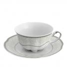 Tasse à café/thé 220 ml avec soucoupe Fleur d'olivier