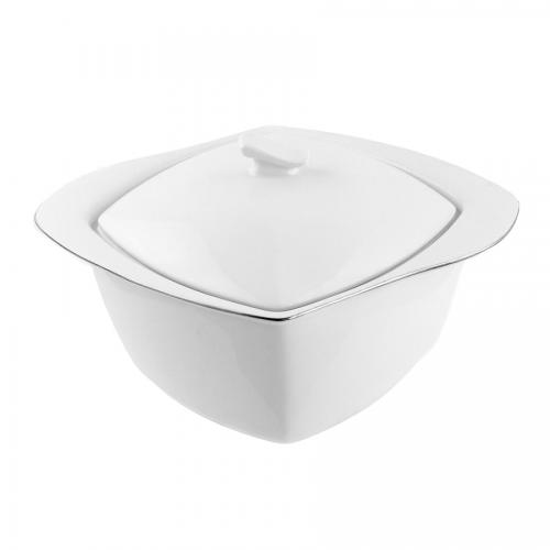 tasse assiette soupi re 3 litres en porcelaine blanche. Black Bedroom Furniture Sets. Home Design Ideas
