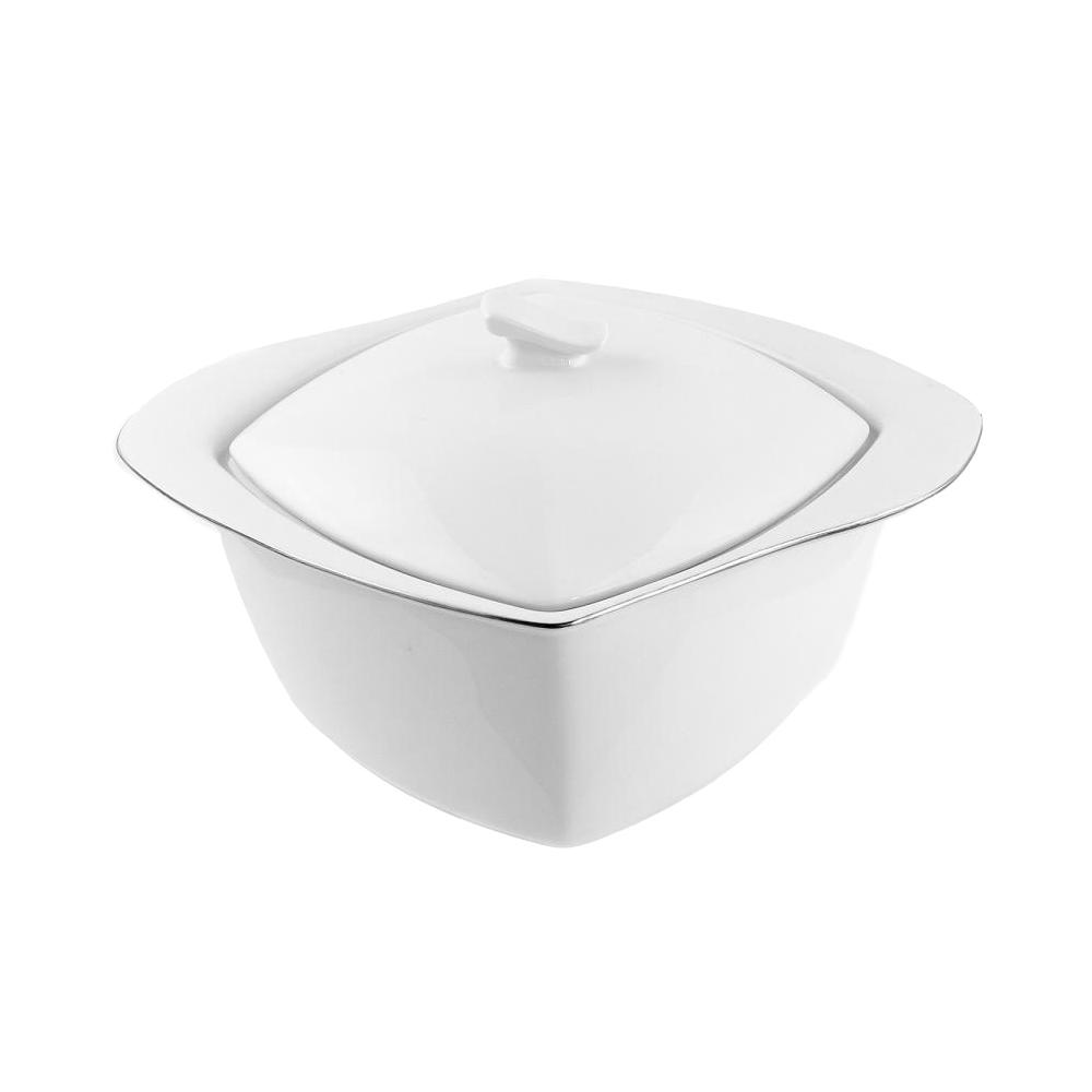 Tasse assiette soupi re 3 litres en porcelaine blanche - Art de la table vaisselle ...
