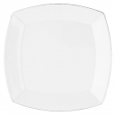 Plat carré 32 cm Bergenia en porcelaine