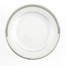 Assiette plate ronde à aile 21 cm Hosta en porcelaine