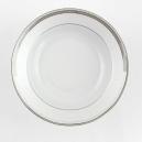 Assiette creuse à aile 22 cm Hosta en porcelaine