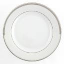 Assiette plate ronde à aile 27 cm Hosta en porcelaine