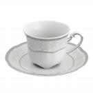 Tasse à café 100 ml avec soucoupe Fleur d'olivier