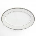 Plat ovale 36 cm Hosta en porcelaine