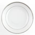 Plat à aile 29 cm rond  creux Hosta en porcelaine