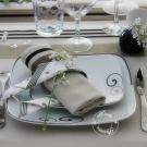 Service de table 24 pcs Hibiscus en porcelaine