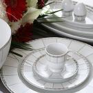 Service de table 24 pièces Rhododendron en porcelaine