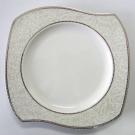 Assiette plate 27 cm (31 cm diag) Bergenia en porcelaine