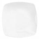 service en porcelaine blanc, Assiette plate carrée 25,5 cm
