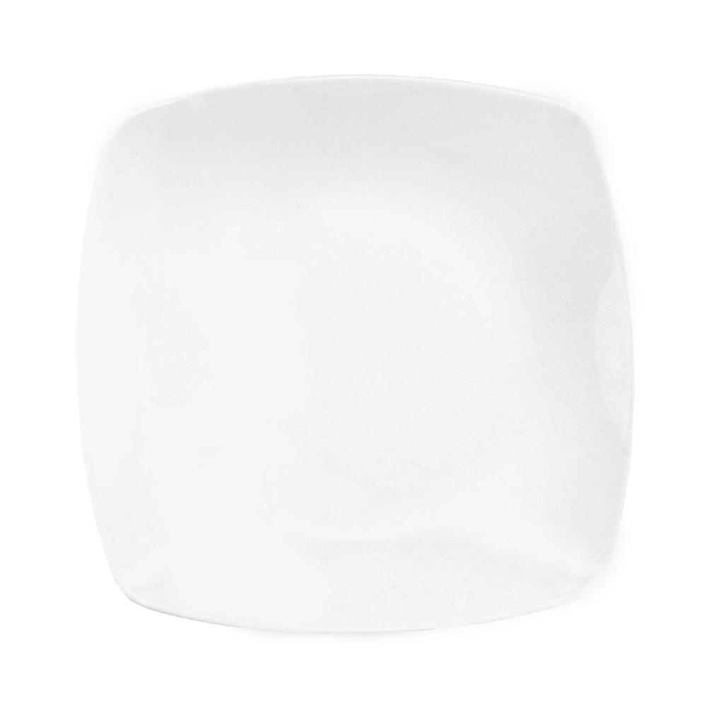 assiette plate carr e 25 5 cm philadelphia en porcelaine. Black Bedroom Furniture Sets. Home Design Ideas
