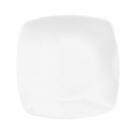 service en porcelaine, Assiette plate carrée 20 cm blanche