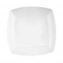 service de table en porcelaine blanc, Assiette creuse carrée 20,5 cm