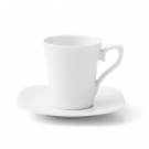 Tasse à café 100 ml avec soucoupe Viorne en porcelaine